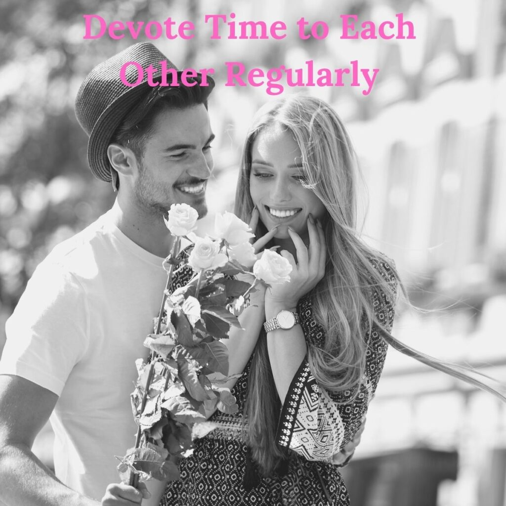 long dist: devote time to each other regularly